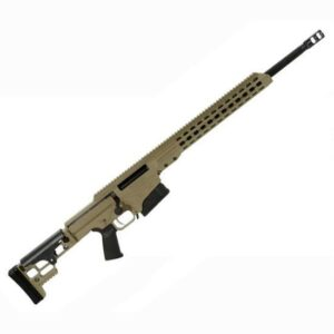 Barrett Firearms Manufacturing MRAD Bolt Action Rifle .308 Winchester 17″ Barrel 10 Rounds Folding Stock Tan Cerakote 14343