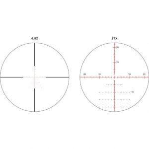 Athlon Ares BTR Riflescope 4.5-27x50mm, 30mm Tube, APLR3 FFP IR MOA, Glass Etched illum Reticle, Black