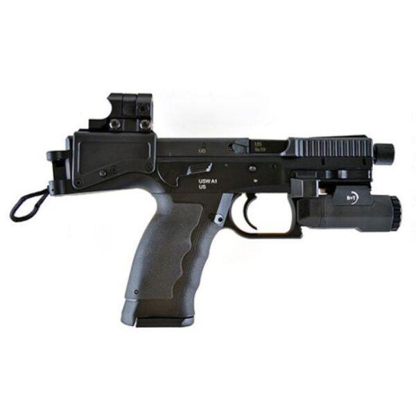 B&T USW A1 Semi Auto Pistol 9mm Luger 4.8″ Barrel 17 Rounds Aimpoint Nano B&T 200 Lumen APL Tactical Pistol Light Ambidextrous Controls Grip Panel Inserts Matte Black