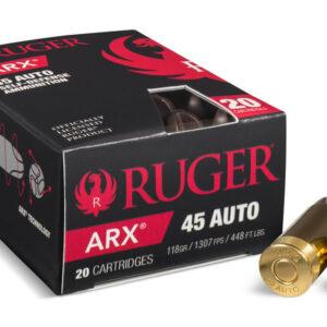 Ruger Arx 45 ACP 118 gr ARX Self Defense 20/Box
