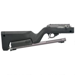 Tactical Solutions X-Ring Takedown Semi Auto Rimfire Rifle .22 LR 16.5″ Threaded Barrel 10 Rounds Ruger BX Trigger Black Magpul Backpacker Stock with Gunmetal Grey Finish