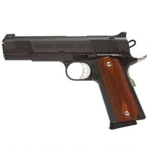 Magnum Research Desert Eagle 1911 Government Semi Automatic Pistol .45 ACP 5″ Barrel 8 Round Capacity Wood Grips Black Finish DE1911G
