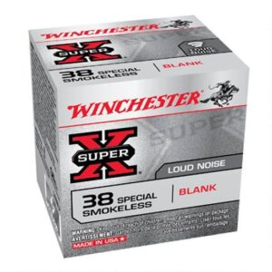 Ammo .38 Special Winchester Ammunition Super X Smokeless Blank Cartridge 50 Rounds 38SBLP