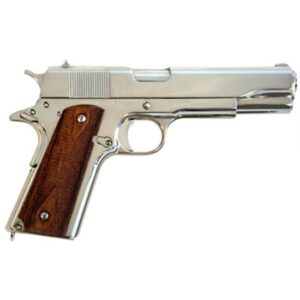 Cimarron 1911A1 Semi Auto Handgun .45 ACP 5″ Barrel 8 Rounds Wood Grips Nickel Finish 1911N00