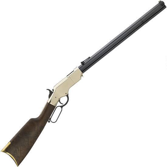 Henry Original Rare Carbine Lever Action Rifle .44-40 Win 10 Rounds 20.5″ Octagonal Barrel Brass Receiver Walnut Stock Blued