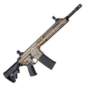 LWRC IC-A5 Semi Auto Rifle 5.56 NATO 16.1″ Barrel 30 Rounds Polymer Stock Patriot Brown Finish GICA5R5PBC16