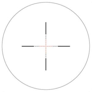 AccuPower 1-4×24 MIL-Square Crosshair, Red LED