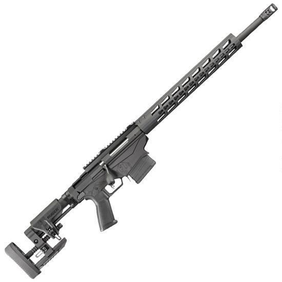 Ruger Precision Rifle Bolt Action Rifle .308 Winchester 20″ Barrel 10 Round Detachable Box Magazine Ruger Chassis/Muzzle Brake/Adjustable Stock Matte Black Finish