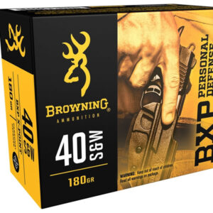 Browning Ammunition 40 S&W 180 gr JHP X-Point BXP Personal Defense 25/Box