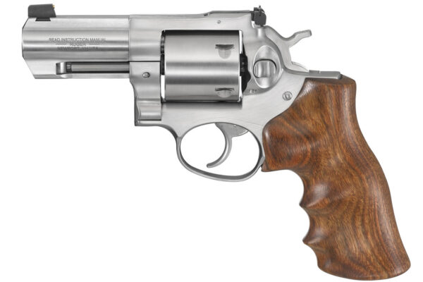 Ruger GP100 44SW Special Double-Action Revolver with Walnut Hogue Grips