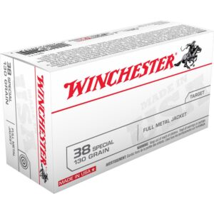Winchester USA .38 Special Ammunition 500 Rounds, FMJ, 130 Grains