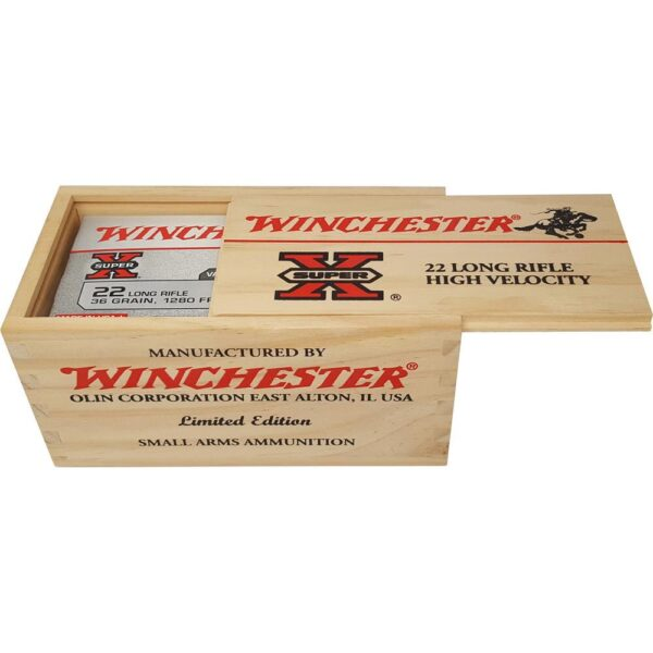 Winchester .22LR Ammunition 500 Rounds, CPHP, 36 Grains Wood Box