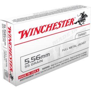 Winchester USA .223/5.56 NATO Ammunition, 1000 Rounds, FMJ, 55 Grains
