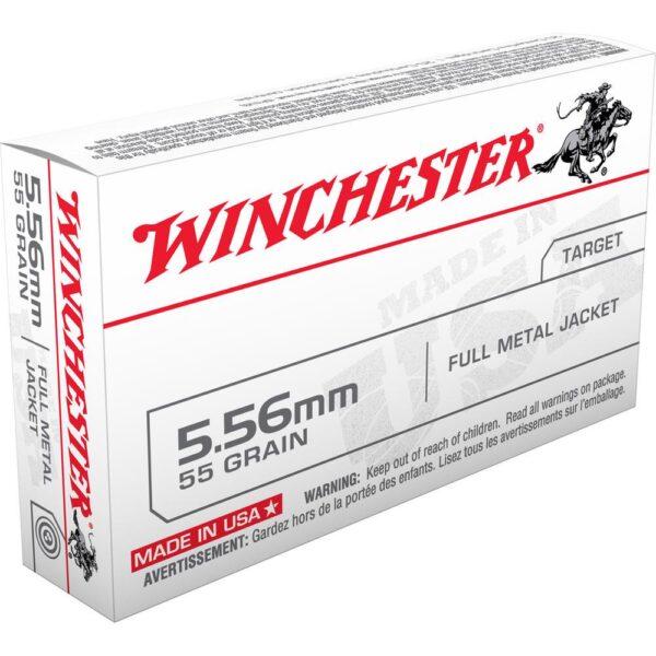Winchester USA .223/5.56 NATO Ammunition, 1000 Rounds, FMJ, 55 Grains
